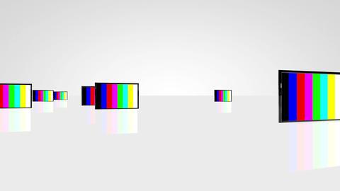 Plasma TV camera travelling 01 Animation