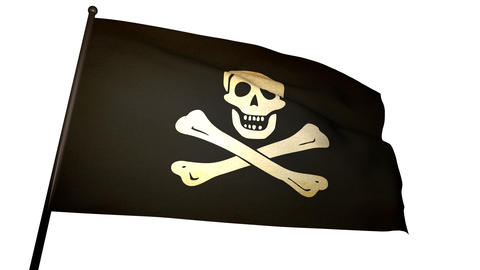 Pirate Flag 01 Stock Video Footage
