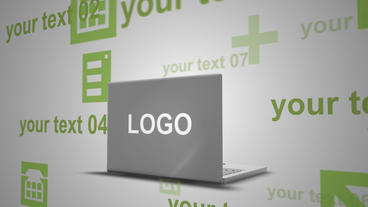 Laptop Projections Logo Ident After Effects Template