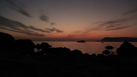 Timelapse sunset on the Black Sea. Crimea, Ukraine Stock Video Footage