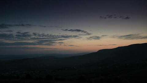 Timelapse sunrise in the mountains. Balaklava, Crimea,... Stock Video Footage