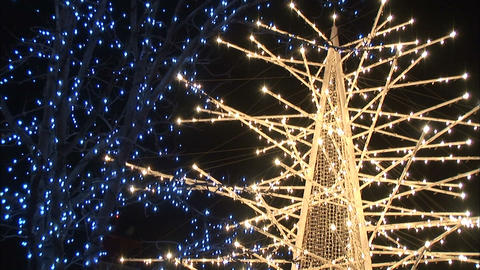 Christmas lights in Japan Stock Video Footage