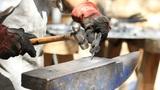 Blacksmith hammer hot metal Footage