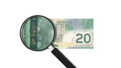 20 Canadian Dollars Stock Video Footage
