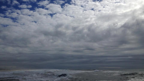 Waves on a stormy ocean Stock Video Footage