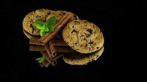 Chocolate cookies Stock Video Footage