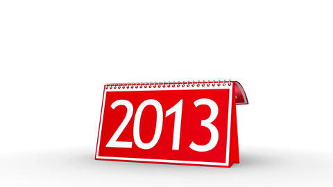 New Year 2013 Calendar (with Matte) Stock Video Footage