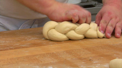 10730 german bakery bread plait braid challah short Stock Video Footage