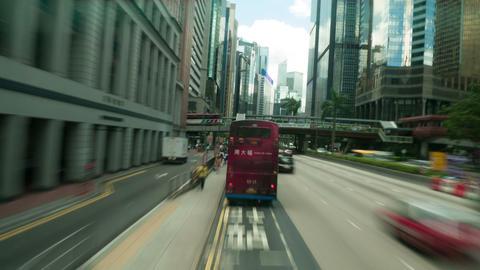 Hong Kong roads traffic, timelapse Stock Video Footage