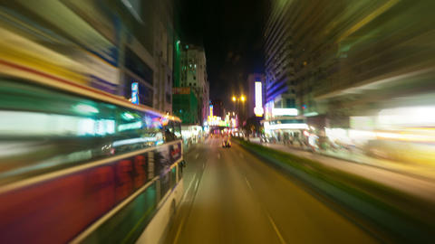 Hong Kong roads traffic, timelapse Stock Video Footage