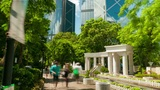 Sunny day in Hong Kong Park, time lapse Footage