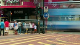 Street traffic in Hong Kong, timelapse Footage