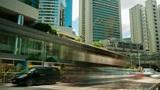 Street traffic in Hong Kong, timelapse Footage