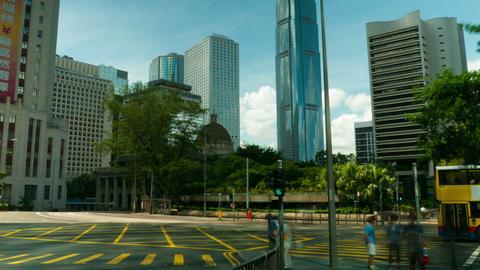 Street traffic in Hong Kong, timelapse Stock Video Footage