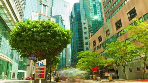 Street traffic in Hong Kong, timelapse Stock Video Footage