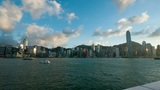 Sunset at Hong Kong harbour, timelapse Footage
