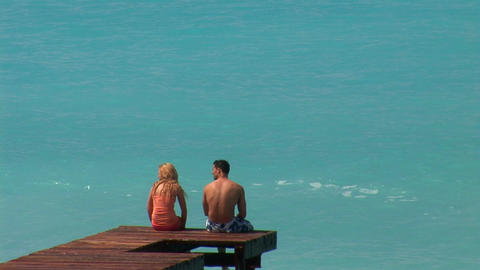 couple at sea Stock Video Footage