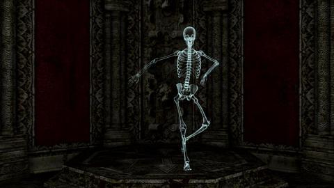 スケルトンのダンス CG動画