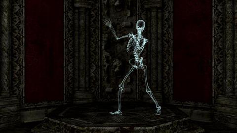 スケルトンのダンス Animation