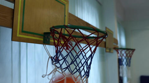 basketball basket Stock Video Footage