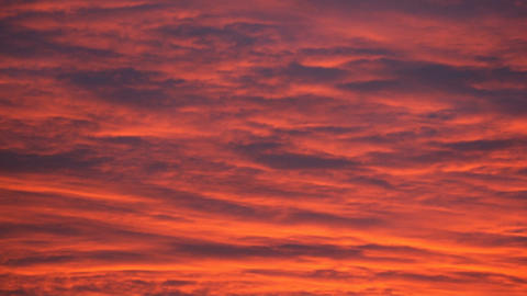 Evening red cloudy sky (timelapse) Stock Video Footage