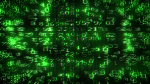 Digital Dollar Matrix Stock Video Footage
