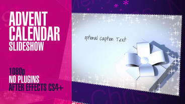 Advent Calendar Slideshow After Effects Template