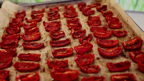 sun dried tomatoes Stock Video Footage