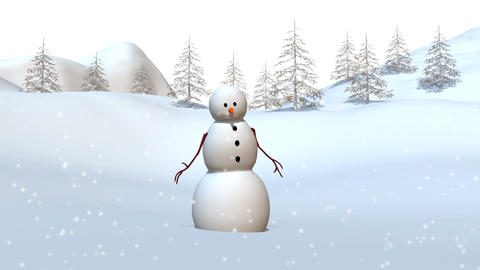 雪ダルマ Animation