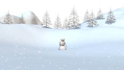 雪ダルマ CG動画
