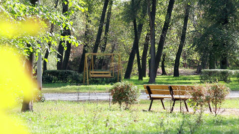 A seesaw in the Park Stock Video Footage