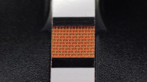 Glucometer evaluates color spectrum Stock Video Footage
