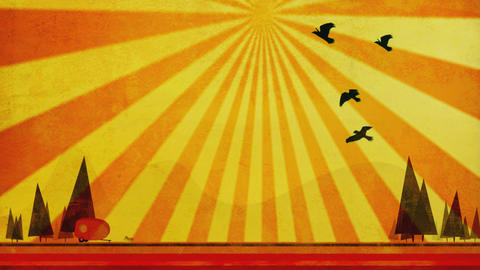 Birds retro Stock Video Footage
