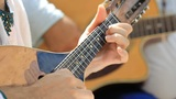 Man playing Acoustic guitar Footage