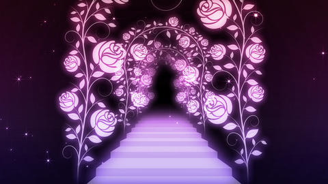 way and stairs of the rose Stock Video Footage