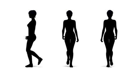 歩く女性 Animation