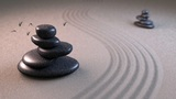 Zen Stones And Birds stock footage