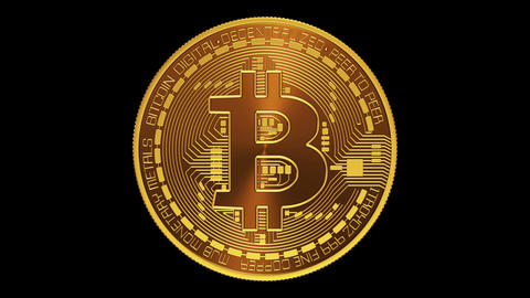 Bitcoin. Alpha Matte stock footage