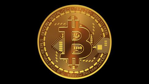 Bitcoin. Alpha Matte Animation