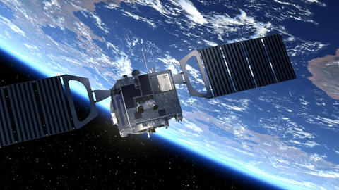 Satellite Deploys Solar Panels Animation