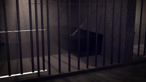 Rows of prison cells, prison interior Stock Video Footage