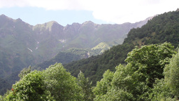 Svaneti Mountains Landscape stock footage
