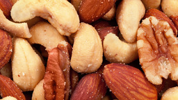 Mixed salted nuts Footage