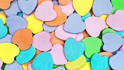 A pile of Valentine candy hearts Footage