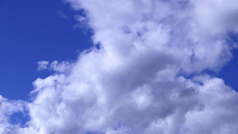 Windy Clouds On Blue Sky Live Action