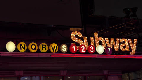 New York Night Subway Live Action