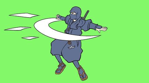ninja action 001 Animation