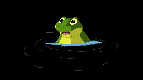 Frog Dives into the Water Animation