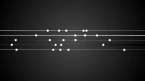Shiny circles and lines on black background animation Animation