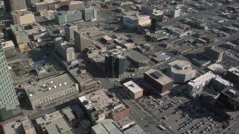 Aerial shot of downtown salt lake city Footage